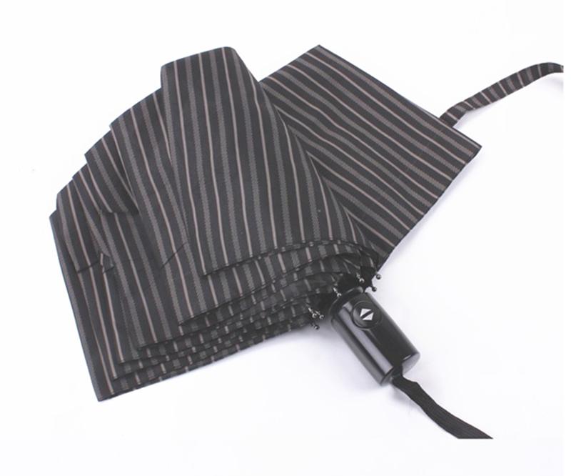 Brand design striped big umbrella men female windproof large quality ...