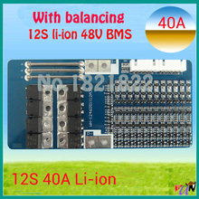 12S 40A 50.4V li-ion BMS PCM battery protection board bms pcm for electric bike battery cell pack with free shipping(China (Mainland))