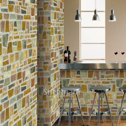 Toilet sticker self adhesive paper bathroom waterproof wallpaper oil mosaic wall stickers - Wall wardrobe with bathroom behind pictures ...