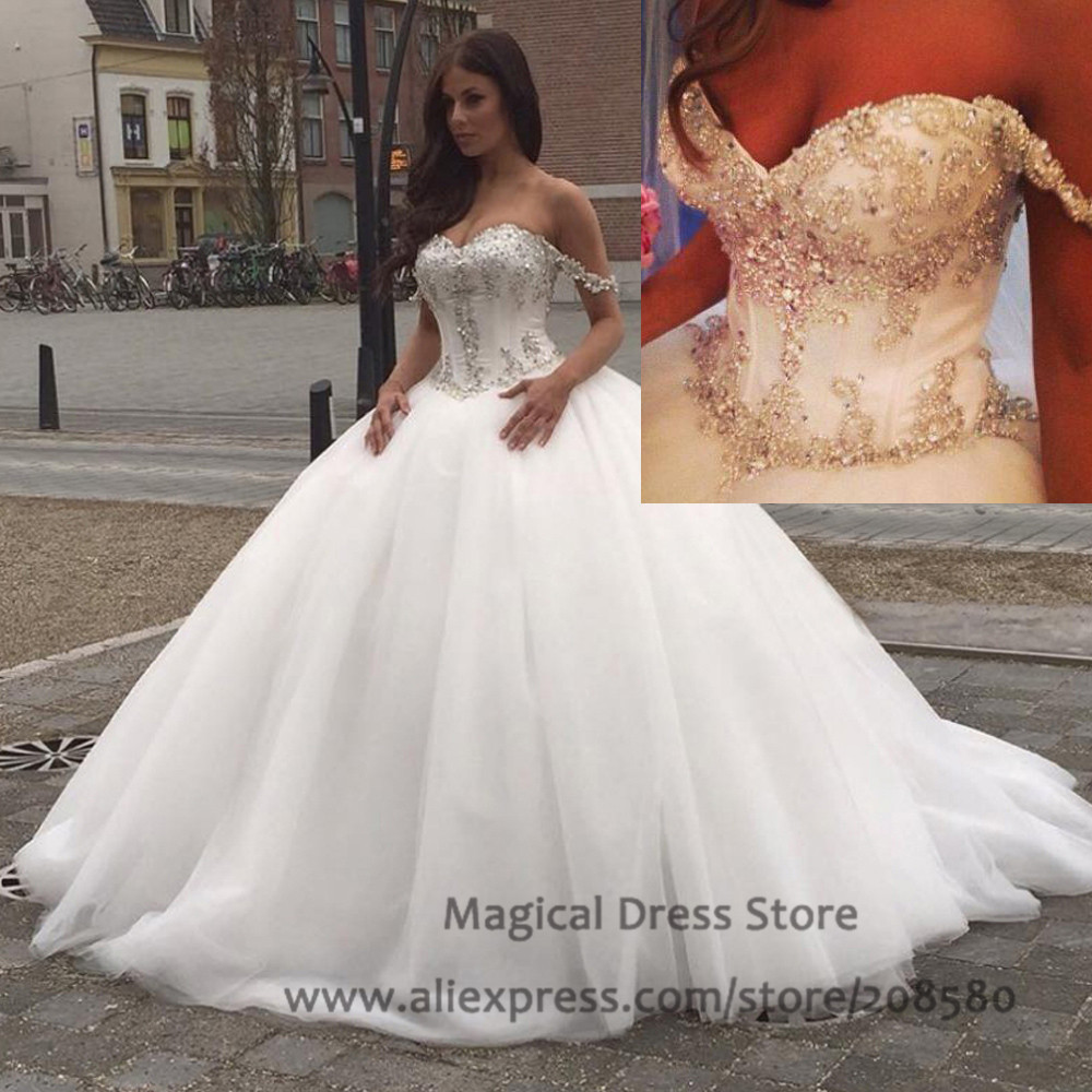 Aliexpress.com   Buy Halloween Wedding Gowns 2016 Bling . 87dfdab70