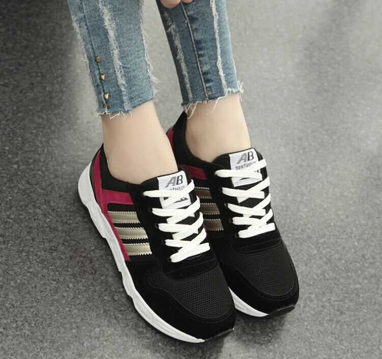 Size 35 40 New Fashion Shoes Woman High Quality Women Sneakers Breathable Lace Up Sport Shoes