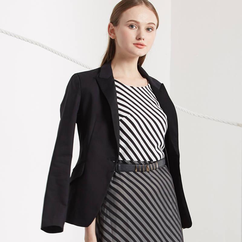 Women business slim blazers long-sleeved shrug suit Single Breasted Button Coat Women spring and autumn all-match women blazers(China (Mainland))