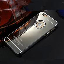 Luxury Gold Mirror PC Hard Bling shell coque plastic Rhinestone Diamond Crystal Case Cover funda for iPhone 5 5s 5/5s 5SE SE(China (Mainland))