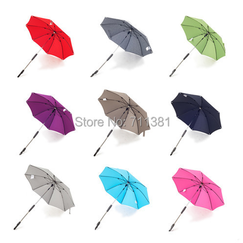 Best Choice New Dsland Parasol/Rain Umbrella For Baby Carrier Baby Stroller Accessory Umbrella 9 Colors For Option Free Shipping(China (Mainland))