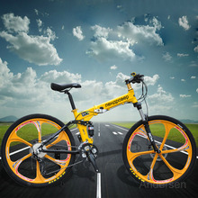 Free Shipping 26 Inch 21 Speed Folding Bike Bicycle Road Mountain Bike With Double Disc Brake For Russia Style