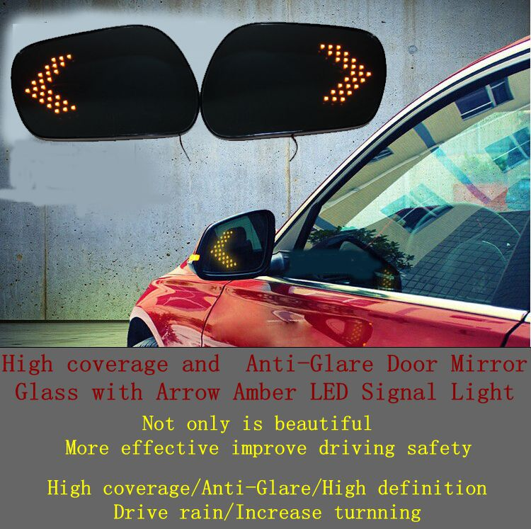 High coverage Anti-Glare Door Mirror LED Ford Mondeo Fusion 09-12 - lichun zhang's store