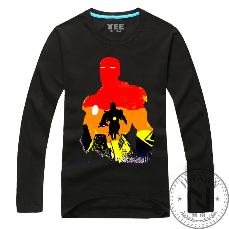 Iron man long sleeve t shirt men boy movie t shirt marvel Boys superhero t shirts