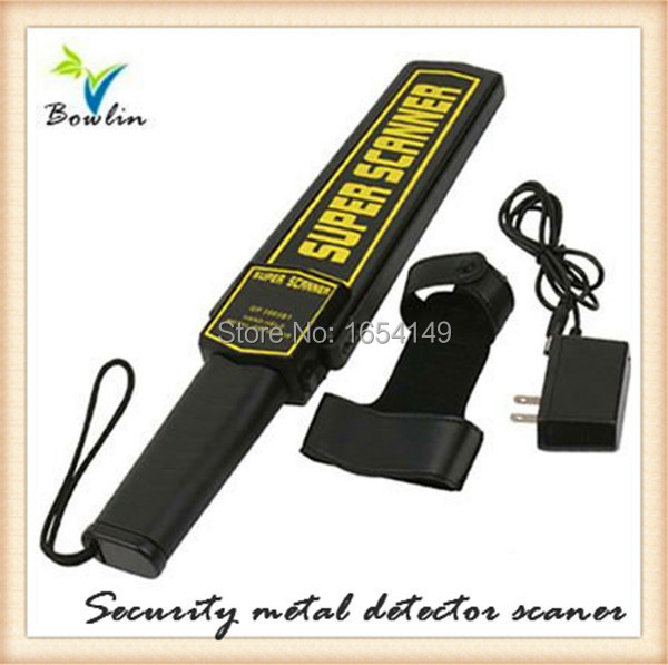 Hand held metal detector wholesale,Portable Super Scanner Hand Held Metal Detector,airport scanner contain battery and charger(China (Mainland))