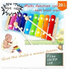 2015 Rushed Capinhas Teclado De Music Juguetes Early Childhood Music Teaching Aid 8 Octave Baby Hand Knock Wooden Xylophone Toy(China (Mainland))