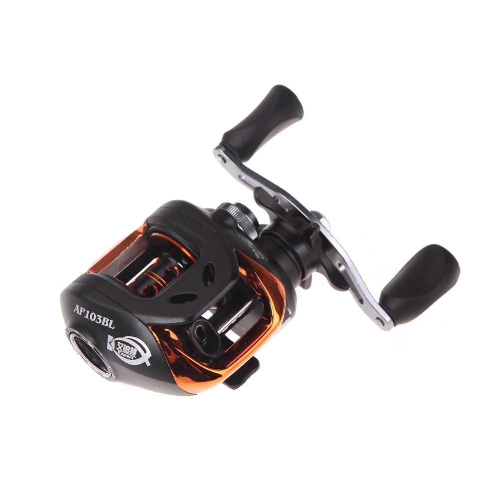 New 10+1BB Ball Bearings Left Hand Bait Casting Carp Fishing Reel High Speed Baitcasting Pesca 6.3:1 AF103 Black(China (Mainland))