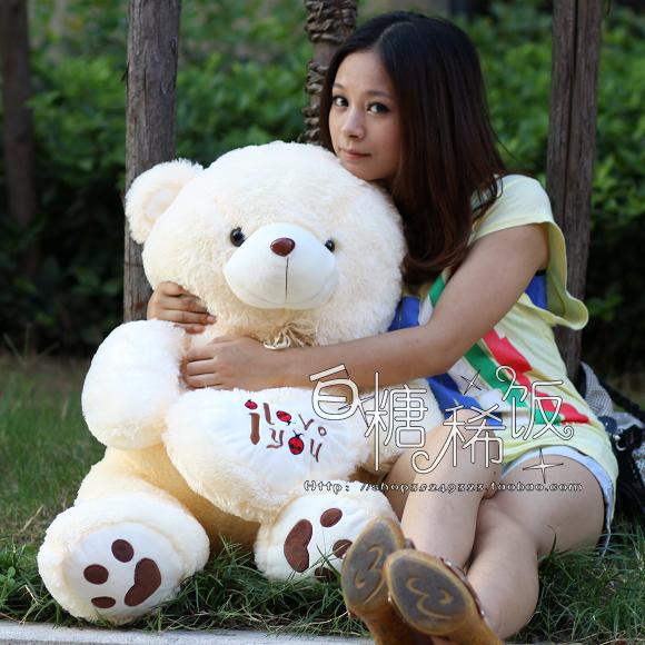 "Фотография 90 cm  "" i love you "" teddy bear plush toy lovely bear doll throw pillow gift w4750"