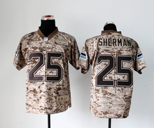 Stitiched,high quality,Seattle s Richard Sherman for mens camouflage(China (Mainland))