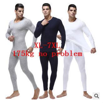 Новый 2015 осень зима мужчины тонкий лонг джонс плюс размер L-5xl 6xl 7xl О-Образным ...