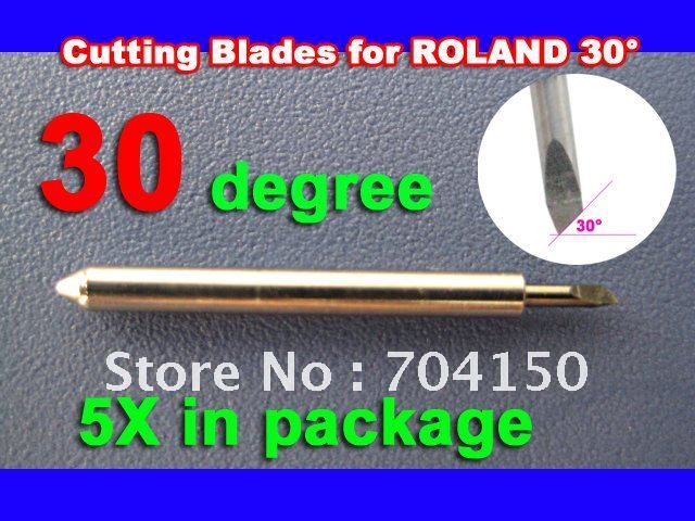 5/pc 30 BLADE Roland Foison Liyu China Vinyl Sign Plotter cutter ,Lettering knife(China (Mainland))