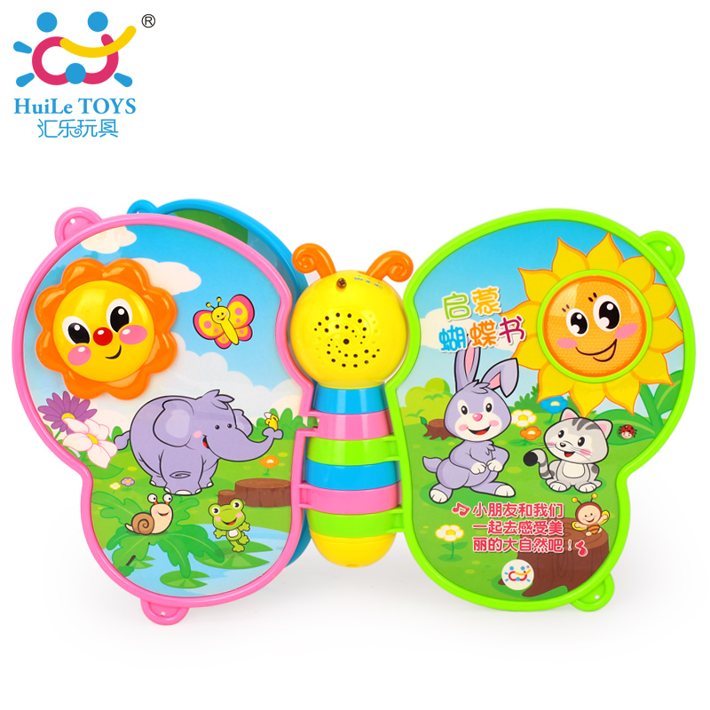 Free Shipping HUILE TOYS 926 Baby Toys Touch and Teach Word Book with Music & Light Educational Book for Toddlers 12 month+(China (Mainland))
