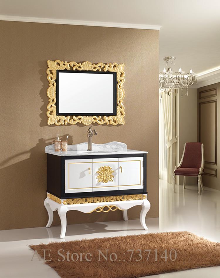 muebles de lujo de madera maciza de roble mueble de bao con espejo mueble de bao con lavabo de cermica agente de compra al po