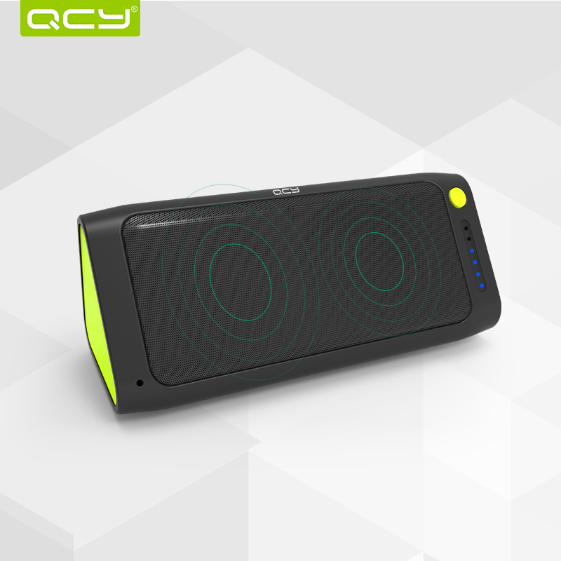 Гаджет  QCY QQ100 MAX Bluetooth Loudspeaker Box Wireless Speaker Double Trumpets Music Subwoofer TF Card LED Flashlight Mobile Power None Бытовая электроника