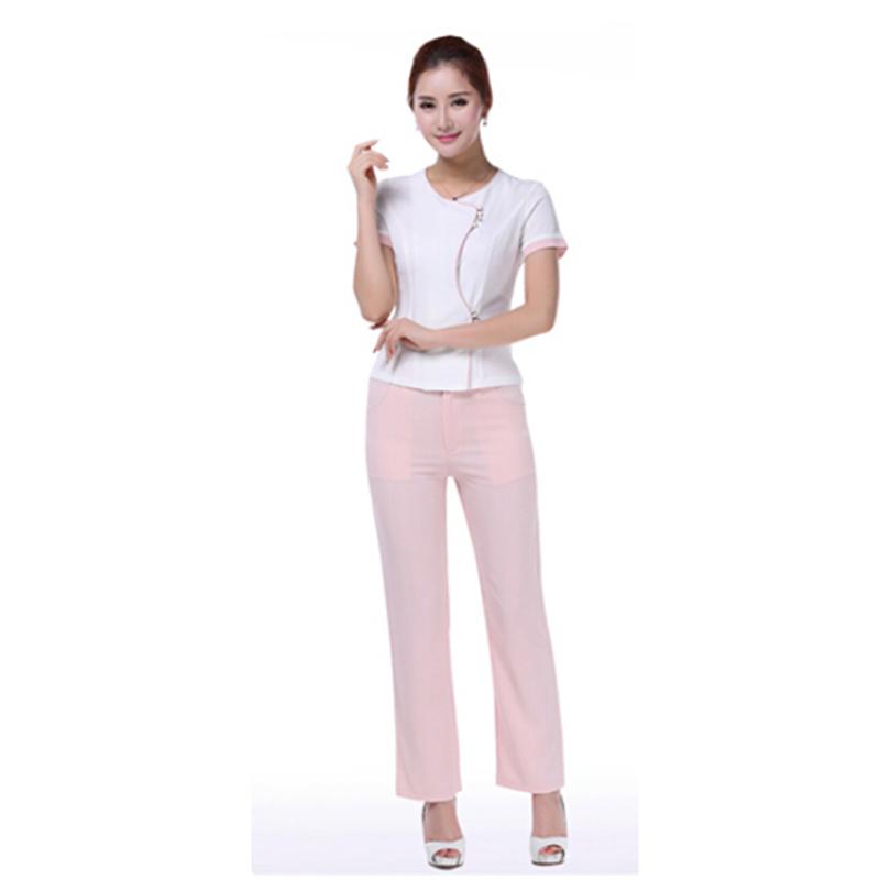 Free Shipping New Style Uniforms Hospital Uniform Women Work Wears Dental Clinic Beauty Salon SPA Hotel Receptionist Uniforms(China (Mainland))