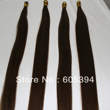 grade AAAAA high quality cuticle intact italy keratin stick tip hair extensions 100g/pack