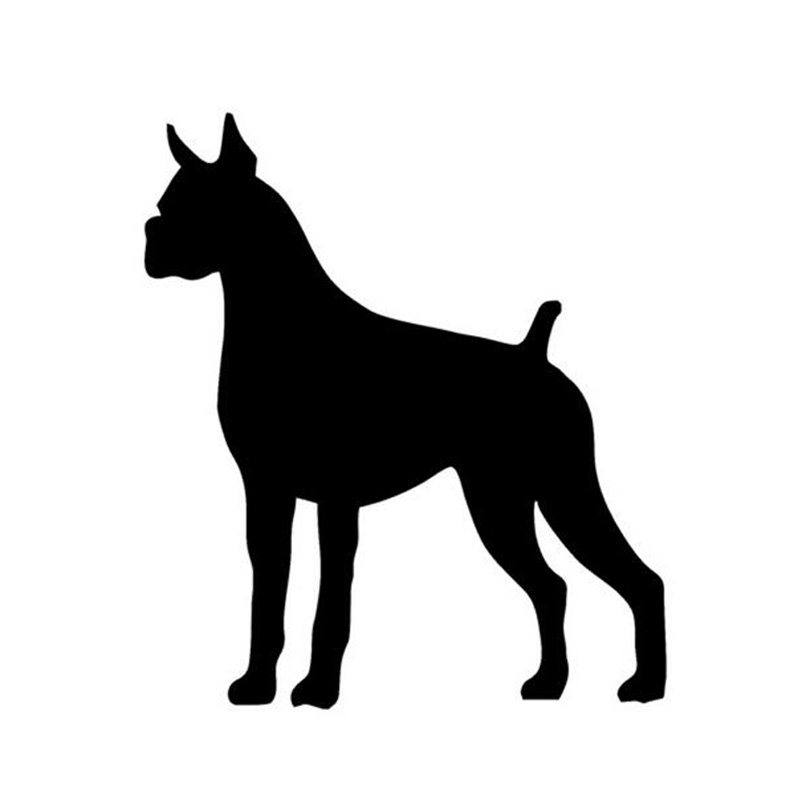10*11.5CM Boxer DOG Image Car Stickers Personalized Guard Dog Cartoon Car Sticker Decals CT-841(China (Mainland))