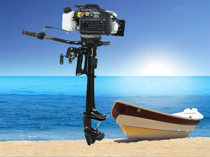 Fast deliery New Design Best Quality 4-stroke 3.6HP HANGKAI outboard motor boat engine air cooled with discount( 3.6 HP 4T)(China (Mainland))