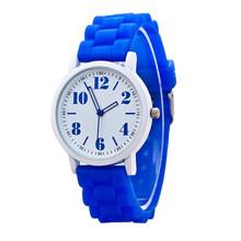 Delicate Hot! relogio feminino Women Silicone Quartz Watches Cute Blue Silicone Starp Ma31