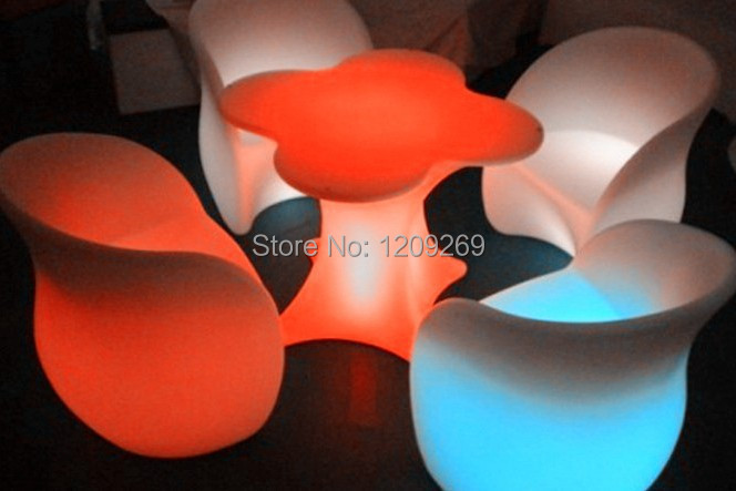 European style!! 2014 quality life LED party furniture with remote control(China (Mainland))