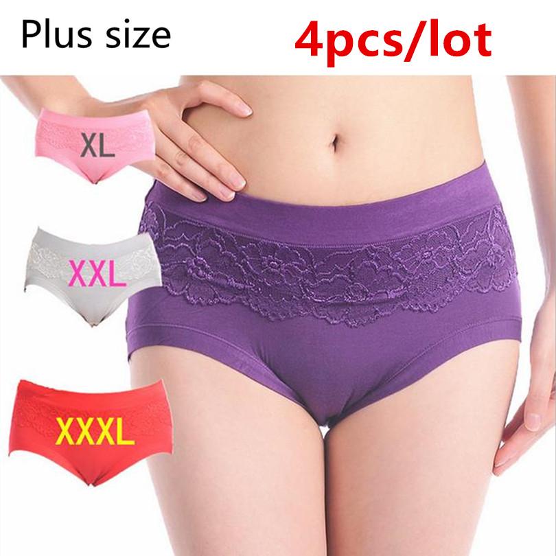 197396187ad XXXL WOMEN S PANTIES sexy lace Panties ladies cotton underwear for women  plus size seamless briefs woman vs pink pants Lingerie