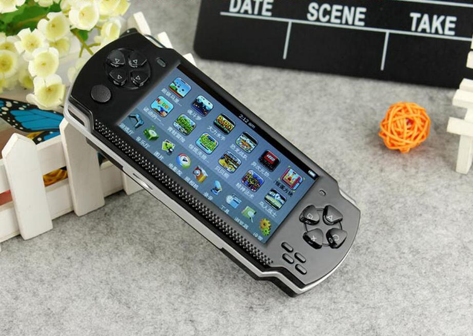 8GB Handheld Game Player Video Game Console 4.3 inch MP4 MP5 Playersfree 2000+games ebook/FM/1.3 MP Camera(China (Mainland))
