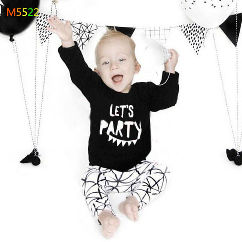 100%cotton 6M-3T Boy and girl Sets 2016 summer Long sleeve T-shirt baby clothes Kids clothes sets T-shirt Top + pants two-(China (Mainland))