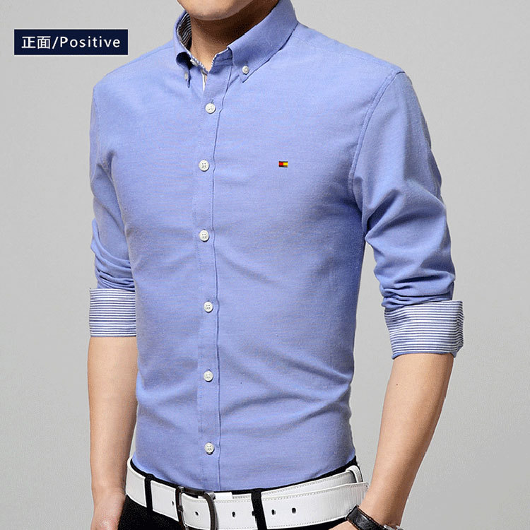 Brand new mens shirts casual fashion 2015 classic fit long for Men s classic dress shirts