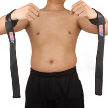 2 pcs Weight Lifting Barbell Hand Wrist Bar Support Gym Strap Body Building
