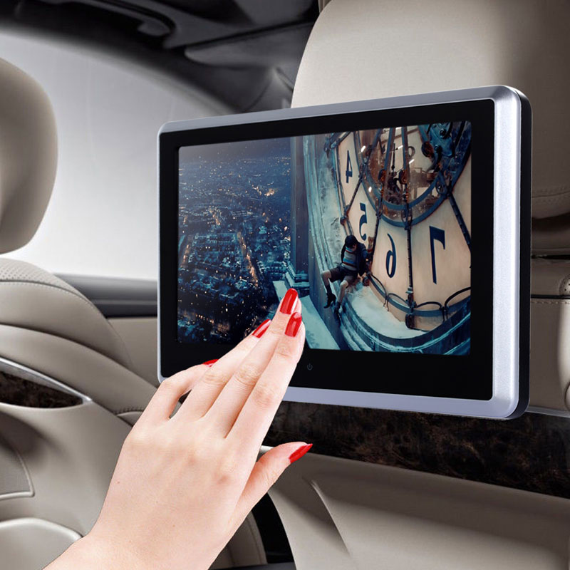 "10.1"" 1024*600 Portable Car Headrest DVD Player Ultral Thin HD Digital Touch Screen Car Video Player SD Card USB Play in MP4/MP3(China (Mainland))"