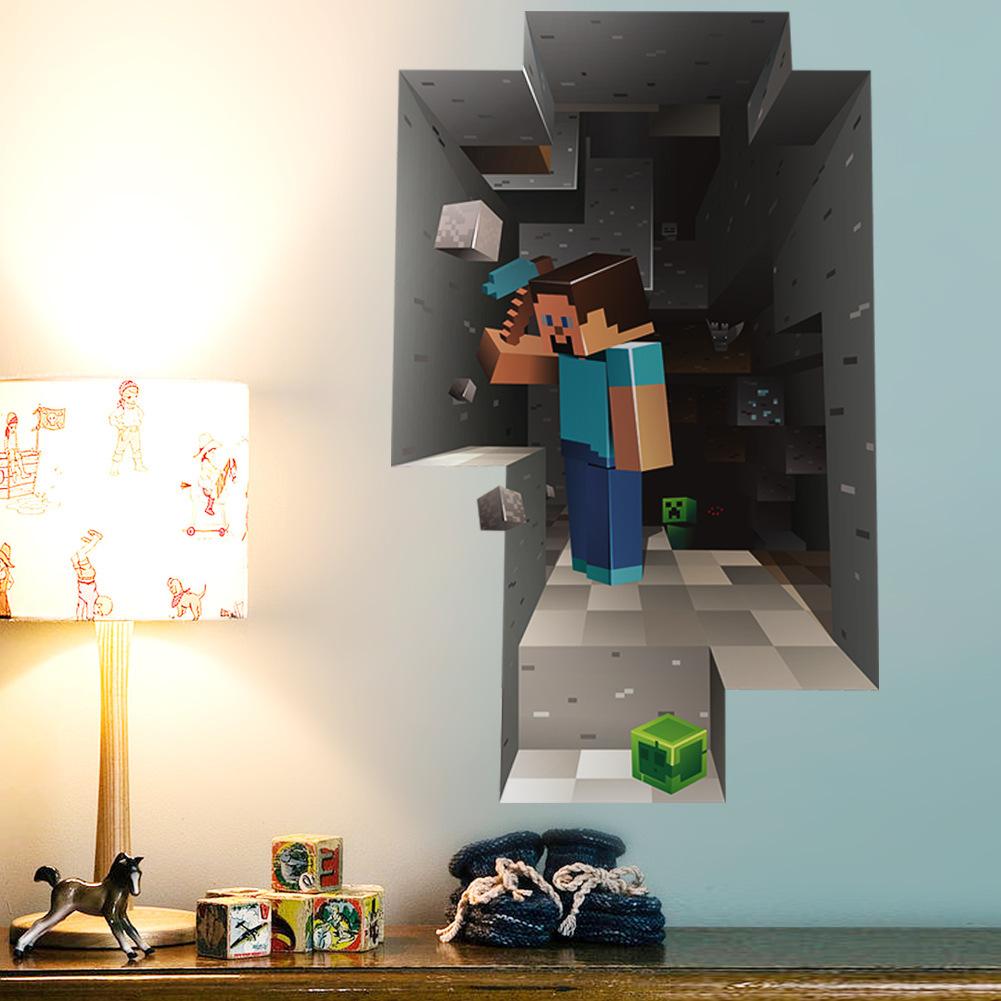 3D Lego children's bedroom wall stickers cartoon bedroom wall sticker decoration desk(China (Mainland))