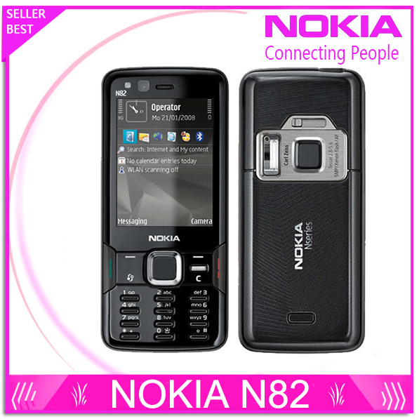 Refurbished Original N82 Unlocked GSM Mobile Phone 5MP WIFI 3G GPS Phone 1 Year Warranty Fast Free Shipping(China (Mainland))