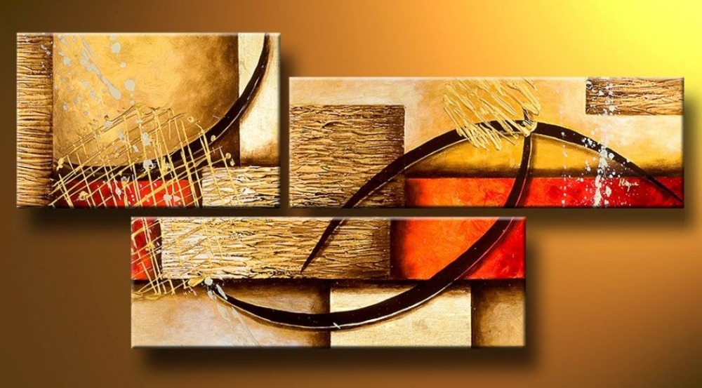 multi piece 3 panel wall art abstract paintings modern oil painting on
