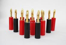 30 шт 4 мм динамик банан вилка коннектор позолота шнек кабели проволока ( 15 красный и 15 черный )