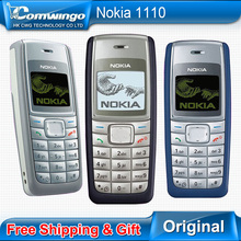 Wholesale 1110 Original Unlocked Nokia 1110 Mobile phone Dualband Classic GSM Refurbished Cell phone 1 year warranty