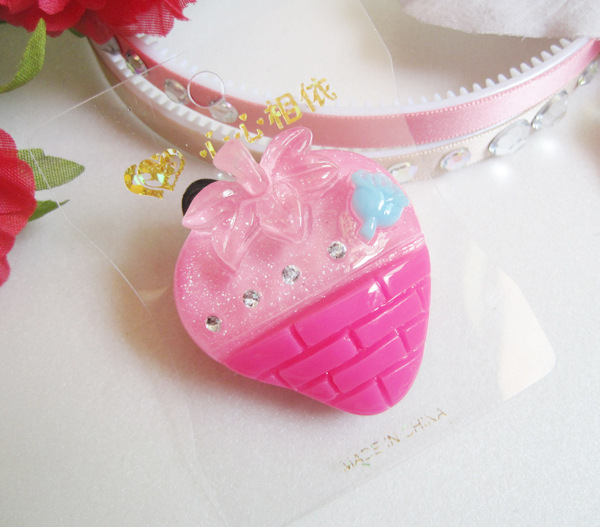 5063 Summer explosion models . Strawberry jelly . Korean hair accessories . Wholesale hair accessories(China (Mainland))