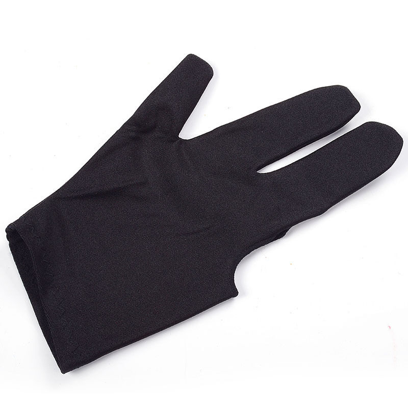 Free Shipping 10Pcs/lot Billiard Pool Table Cue Shooters 3 Fingers Gloves Black Accessory New Arrival(China (Mainland))