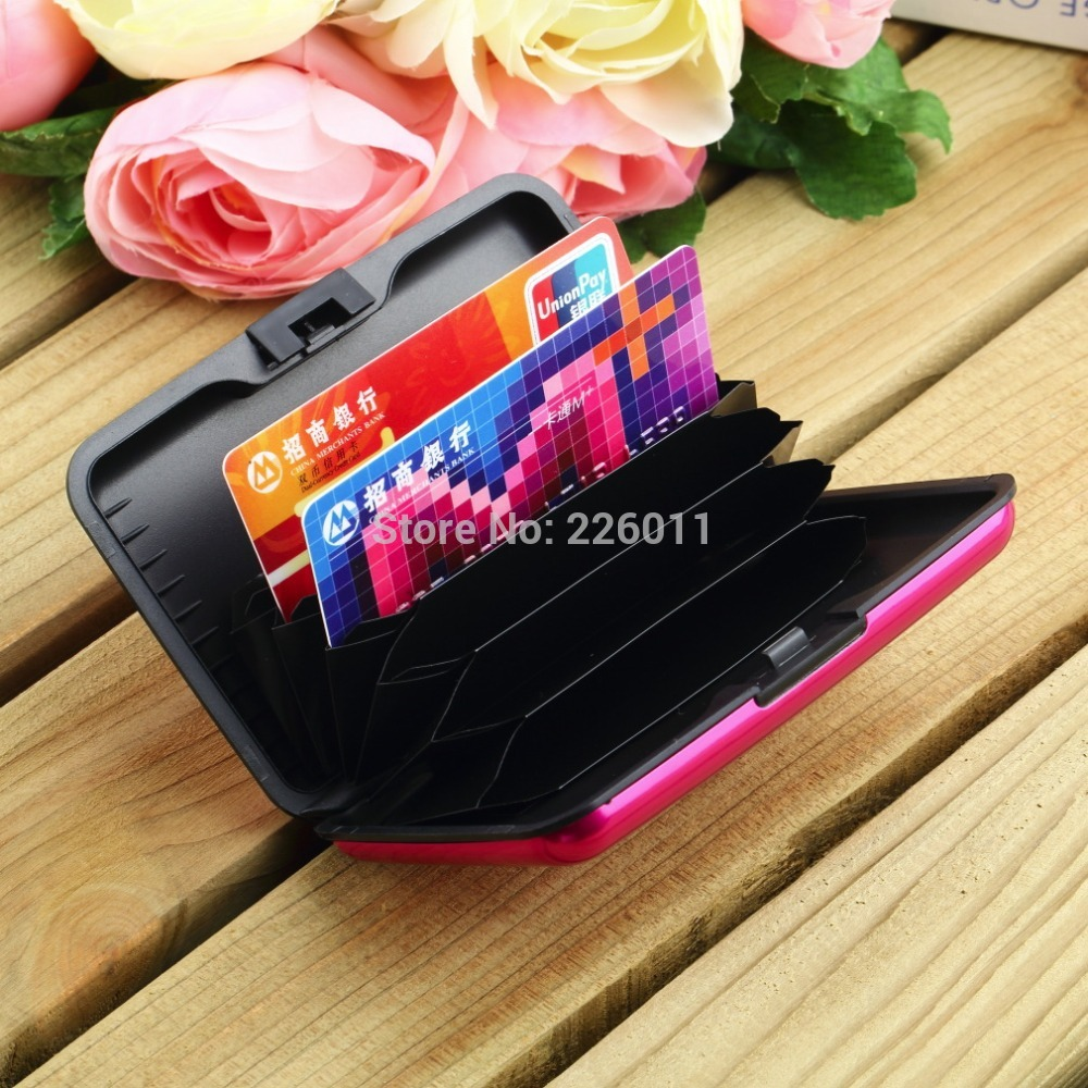 Waterproof Business ID Credit Card Wallet Holder Aluminum Metal Case Box Multiple Colors 2015 Hot Luxury Useful(China (Mainland))