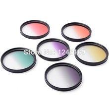 Xcsource 6pcs 58mm Graduated Color Lens Filter Kit With Bag for Canon EOS Camera LF349 SZ