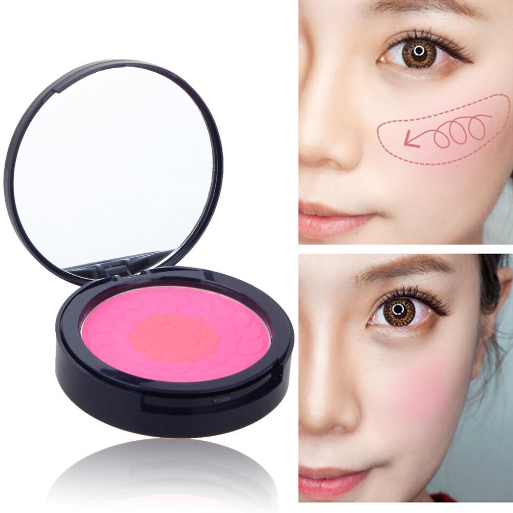 Face Makeup Baked Blush Palette Professional Women Beauty Makeup Cosmetic Blush Blusher Powder Palette Brighten(China (Mainland))