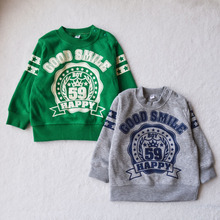 free shipping baby unisex O-neck  hoody sweater wholesale and retail 2015 autumn and winter kids' clothing hot sales(China (Mainland))