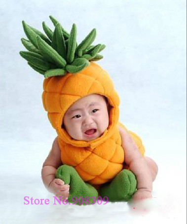 unisex baby 39 s pineapple infant beanie costume sets. Black Bedroom Furniture Sets. Home Design Ideas