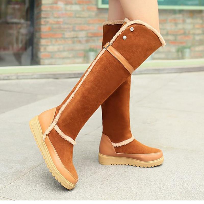 The female 2015 fall flat Korean winter boots high boots boots boots with Flat Boots
