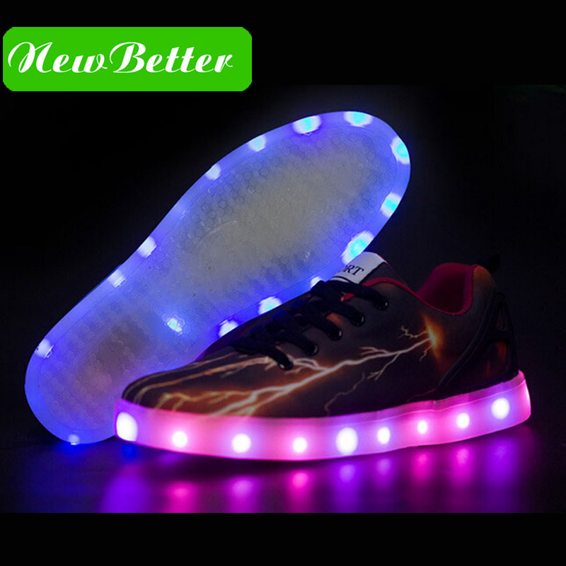 men shoes In the spring of 2016 new mens lightning shoes leisure shoes with low fluorescent lamp light shoes male male shoes<br><br>Aliexpress