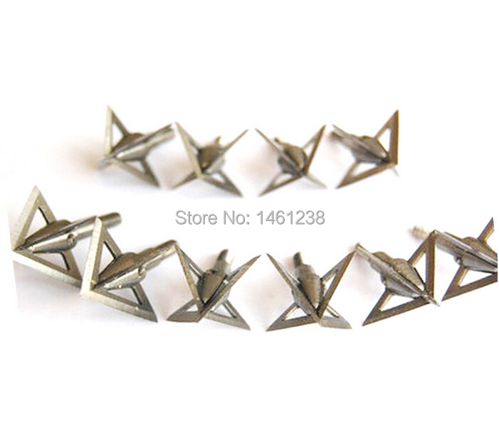 10pcs lot 4 fixed blades New Aftershock Shooting Hunting Bow and Arrow Broadheads Crusades arrowhead arrow