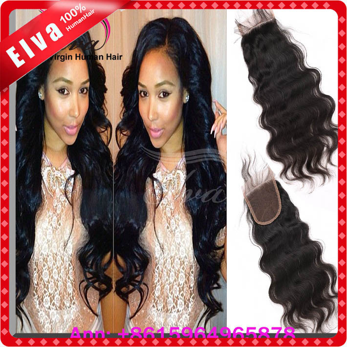 cheap body wave 3.5*4 unprocessed virgin malaysian closure Swiss lace free part middle part 3 part  can be dyed free shipping<br><br>Aliexpress