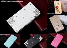 20 styles Shining Diamond Flip Phone case cover for HTC Rhyme S510b G20 wallet case with holder(China (Mainland))